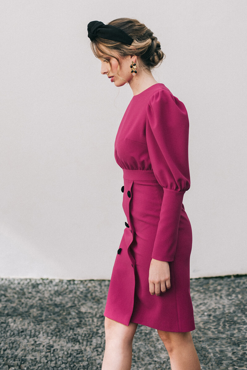 vestido adelle frambuesa