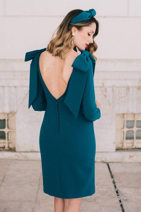 vestido harmony petroleo