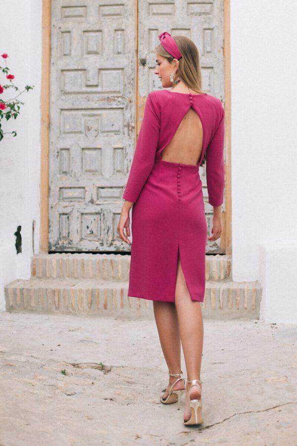 vestido abril frambuesa