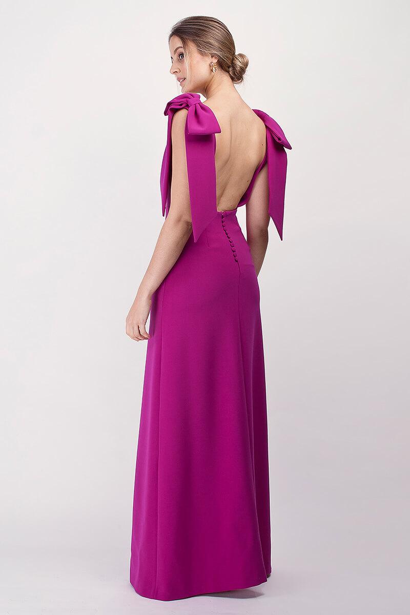 vestido adela frambuesa