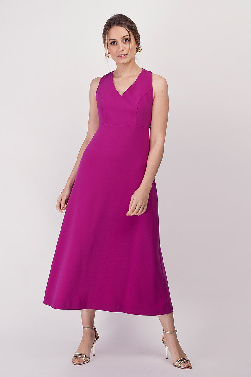 vestido amanda frambuesa