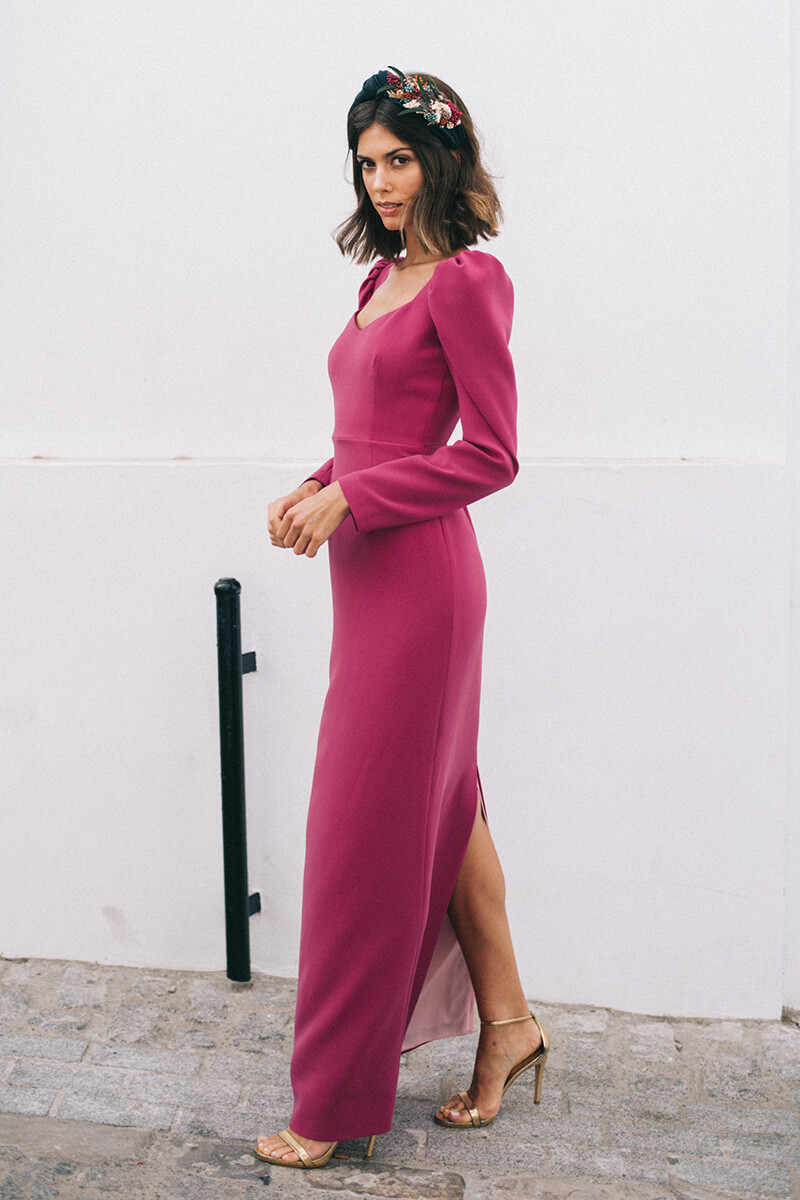vestido aurora frambuesa