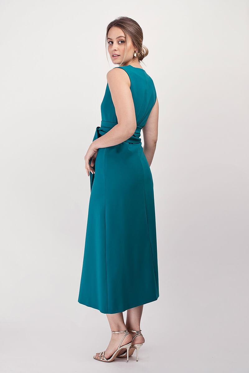 vestido bernarda petroleo