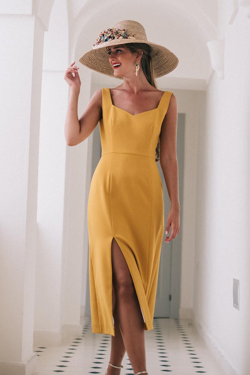 vestido fabiana mostaza