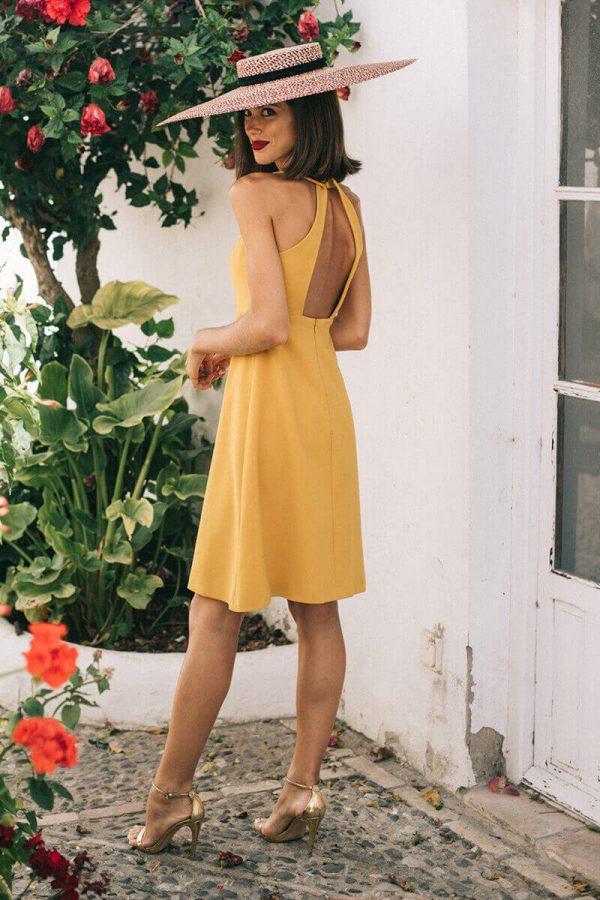 vestido fernanda mostaza