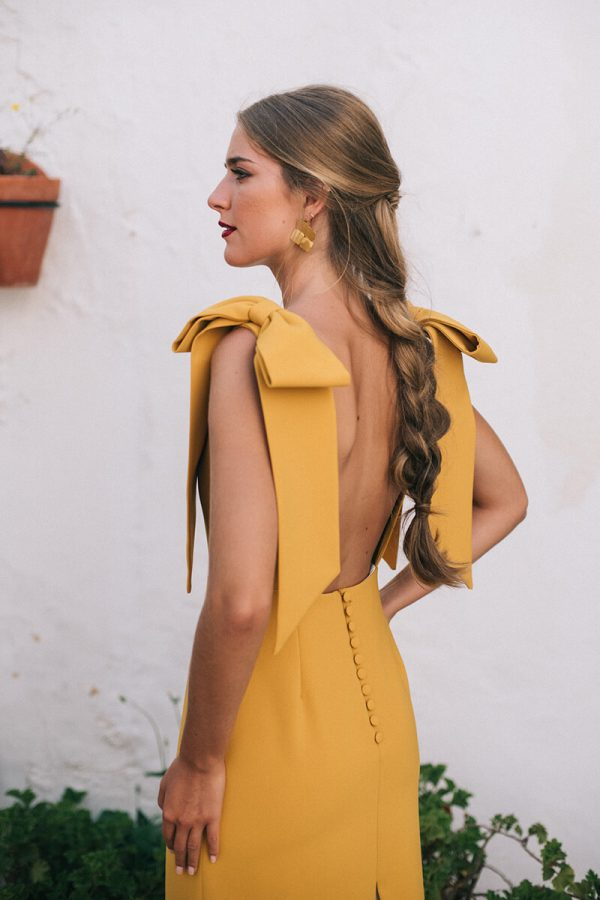 vestido lucine mostaza